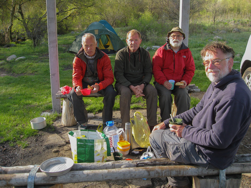 Breakfast, campsite