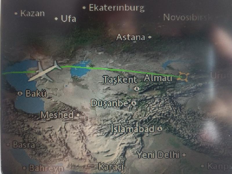 flight TK353, Almaty (ALA) Kazakhstan - Istanbul (IST) Turkey