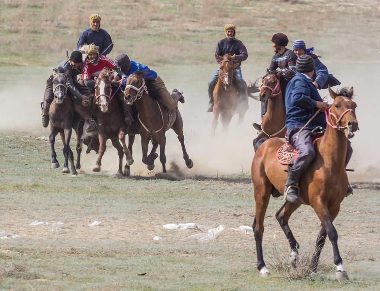 Buzkashi, (Kok-boru) rider game
