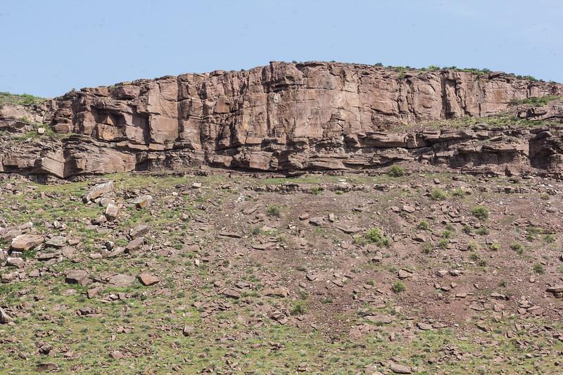 Plateau edge of Lake Akkol