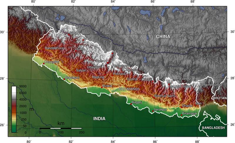 Nepal-topo,
