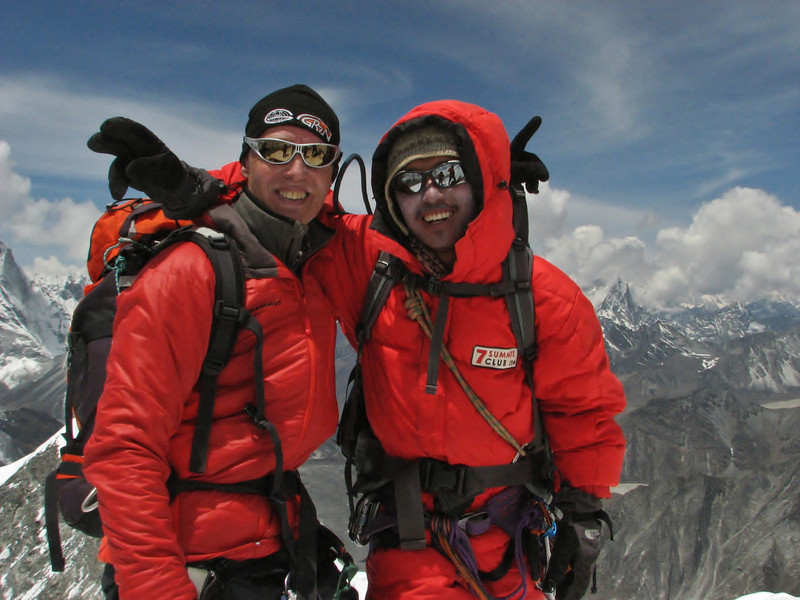 Marijn and Sherpa  Mingmar, Summit Imja Tse, Island Peak 6160m