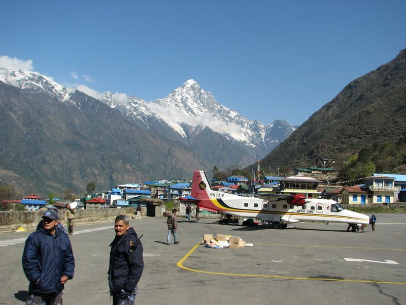 Lukla Airport. Twin Otter flight: Kathmandu - Lukla 2775m