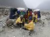 High mountain porters, Khare 4950m-Kothe 3700
