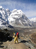 High mountain porter near Camp Khare 4950m