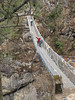 Suspension bridge, Monjo 2900m-Namche Bazaar-Tengboche-Deboche 3630m