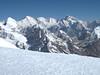 View from Mera Peak, summit 6476m