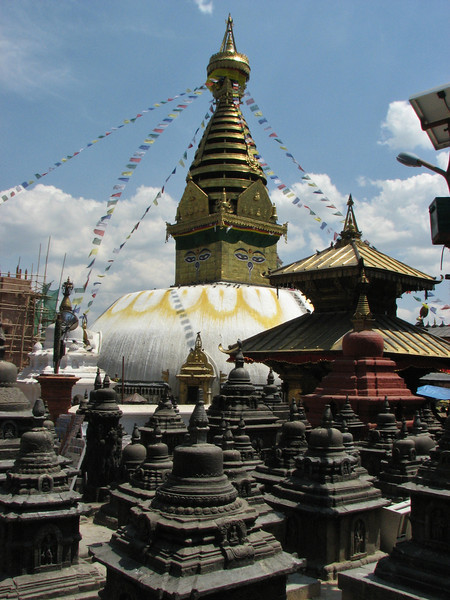 Swayambhunath Hindu temple, Monkey Temple, Kathmandu 1300m