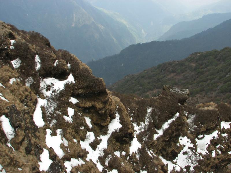 Ridge, habitat of Primula deuteronata, white form, Kothe 3700m-Zatwrala 3800m