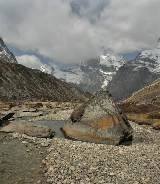 Mountain stream, Khare 4950m-Kothe 3700m