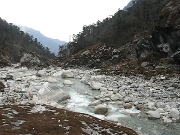film: The Hinku Khola river