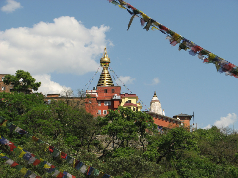 Swayambhu temple, monkey-temple Kathmandu