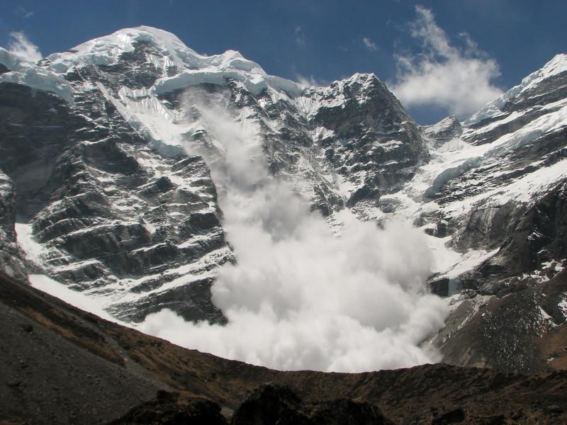 Avalanche on the Mera Peak 6476m