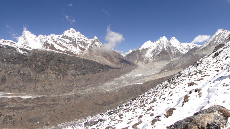 Landscape near Camp Khare 4950m