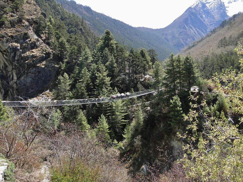 Landscape, Suspension bridge, Monjo 2900m-Namche Bazaar-Tengboche-Deboche 3630m