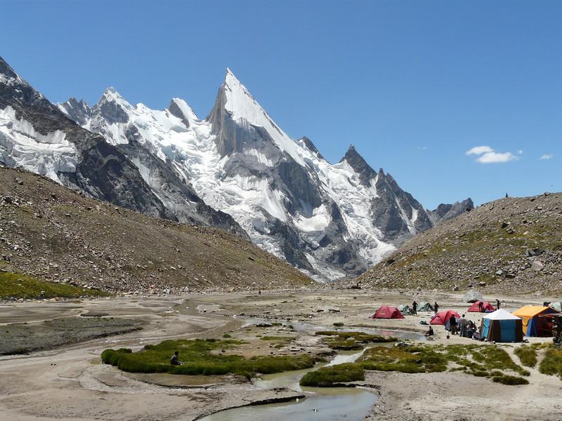 Huespan camp 4680m.and Layla Peak 6200m