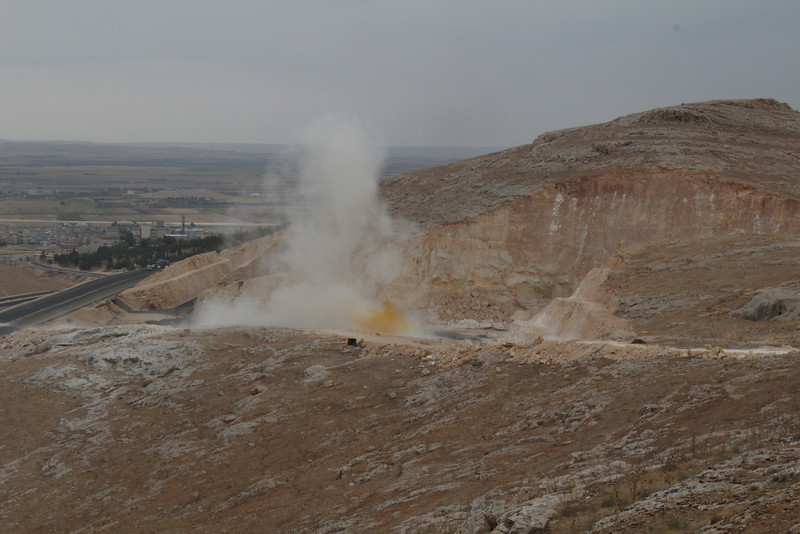 Destroying habitat 13km South of Sanliurfu (Sanliurfu-Harran), 483m, on limestone-derived red clay [13]