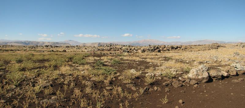 Landscape, vulcanic rocks,  Diyarbakir - Siverek - Karacadag