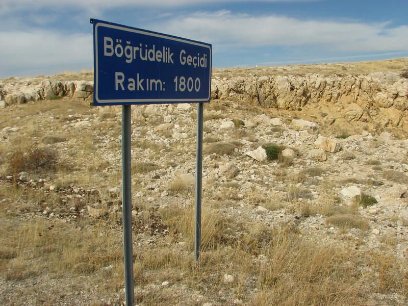 Bögrüdelik Gecidi 1800m (Gürün-Ulas)