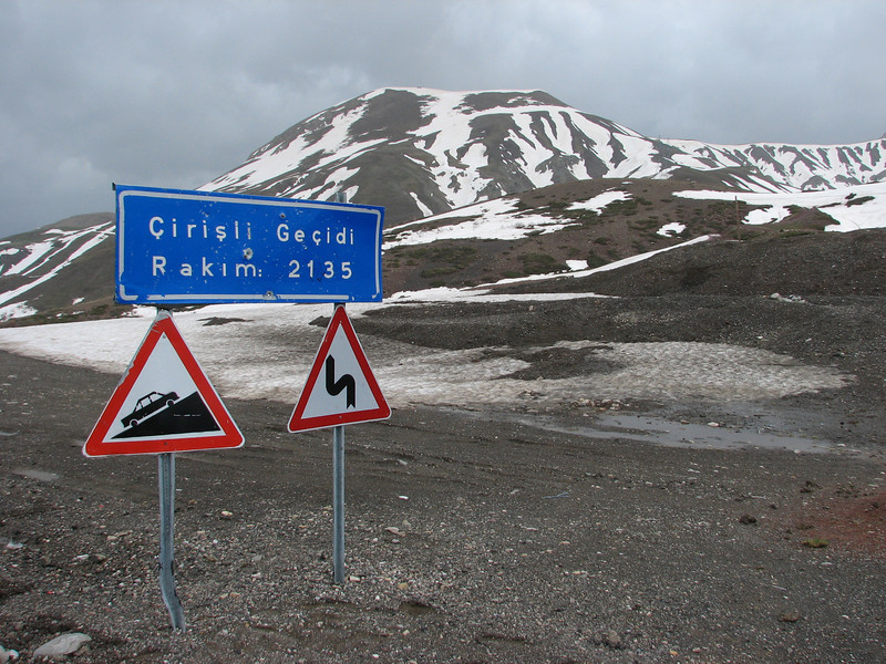 Pass road of Cirisli Gecidi 2135m.
