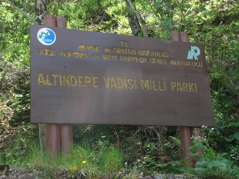 Nat. Parc, Altindere vadisi milli parki (near Trabzon)with the Sumela monestery
