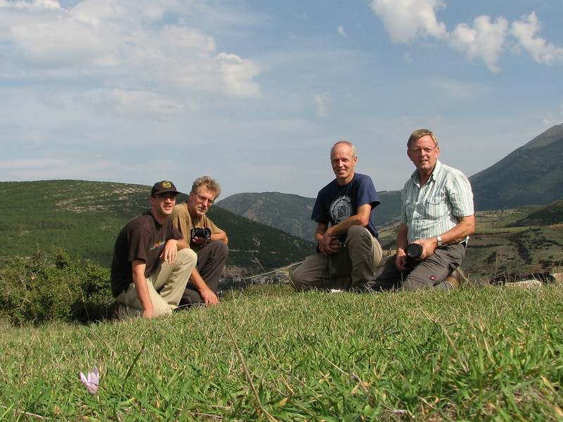 Kees Jan, Sicco, Marijn and Geert at a habitat of Colchicum polyphyllum (near Belen Pass, Nur Dağlari, Hatay, S Turkey)