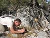 Kees Jan photographing Crocus mathewii (Baba Daglari 1671m., Southwestern Turkey)