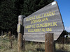 National Park sign of Uludag National Park