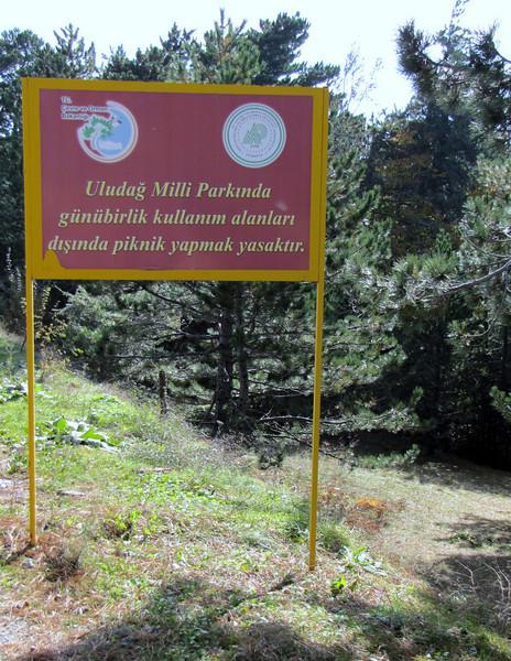 Entrance of Uludağ Millî Parkı, south of Bursa