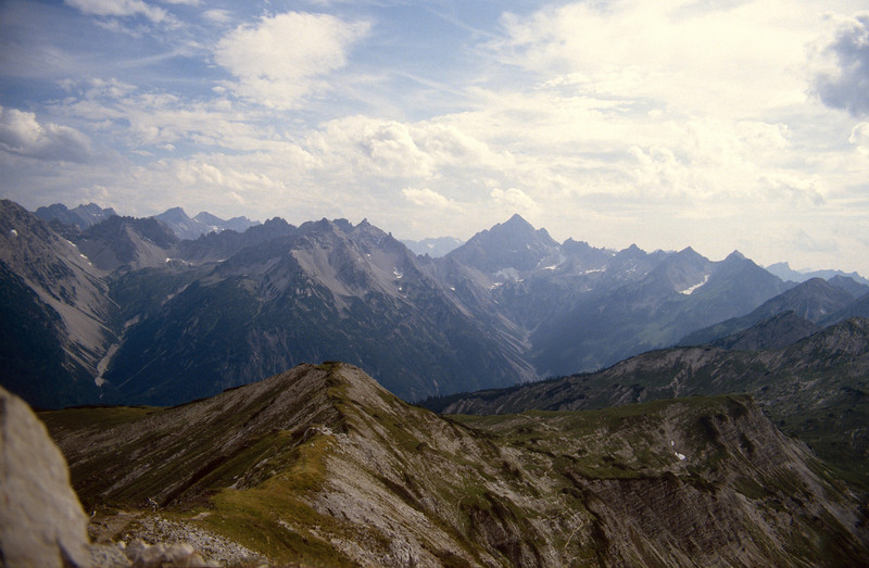 the Northerly Lime Alps with the Hochvogel, Allgau 1984,1985 en 1986
