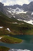 Schrecksee,1802m.Habitat of Gentiana clusii and Cypripedium calceolus