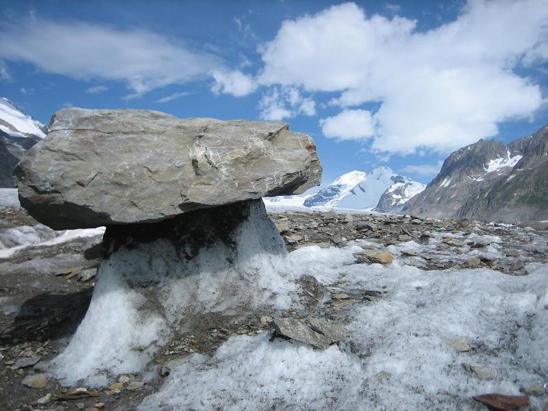 glacier table (on the Aletschglacier alt. 2000m)