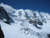 """Bernina"", the mountainrange on the border of Switzerland / Italy, July 2007 (Piz Palu 3901m East, Main and West summit)"