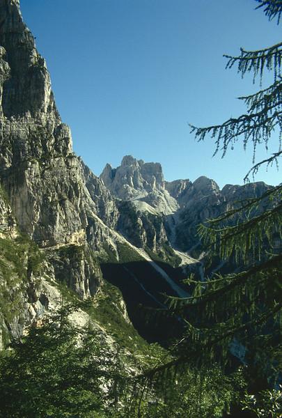 Brenta, limestone mountains