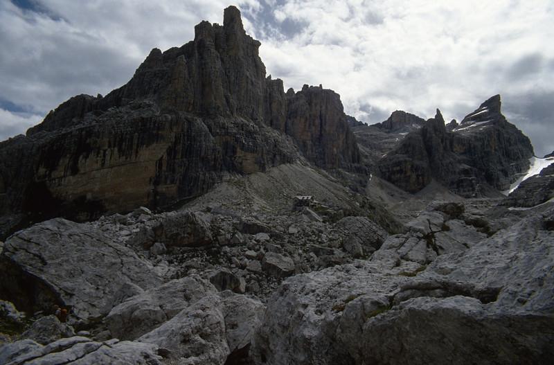 Rifugio Tuckett 2268m CAI, Brenta Dolomites