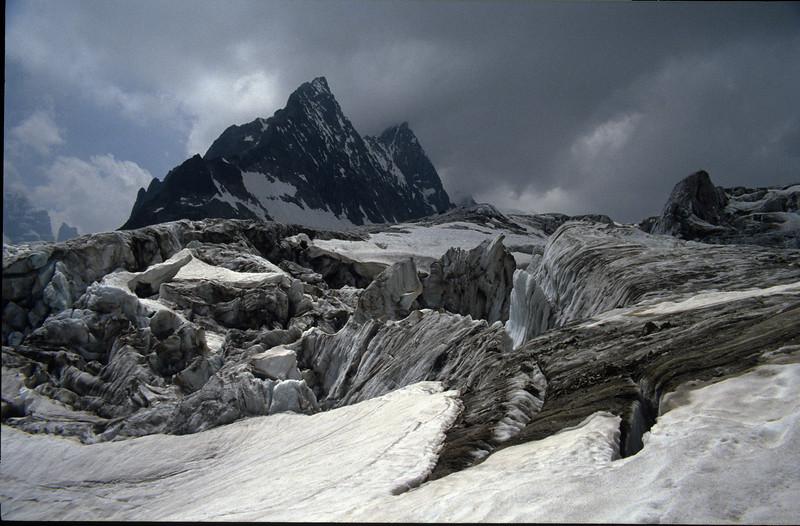 Glacier Blanc and Mnt. Pelvoux