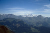 view at the Mont Blanc 4808m