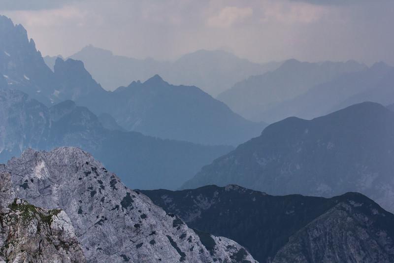 near Mountain Mangart 2679m, NW SLO