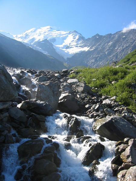 water from Glacier de Bionnassay, Mont Blanc 4808m
