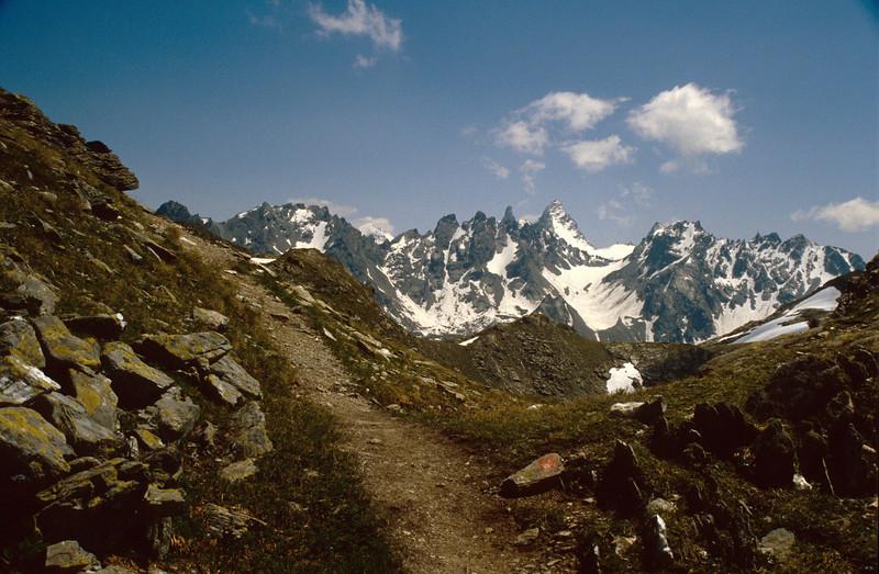 Silvretta mountains from Piz Buin to Kromer spitze