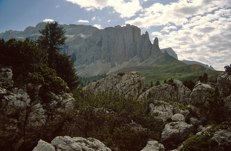 Limestone rocks of the Dolomites