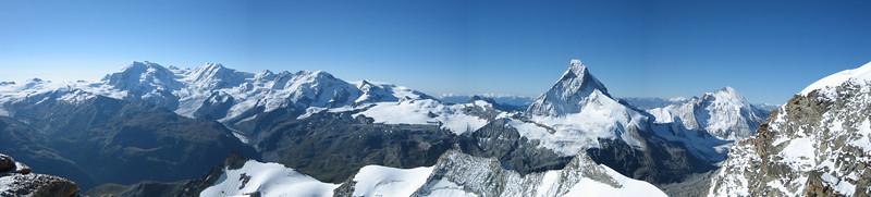 panorama of the Walliser mountains