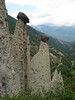 Erosion towers (near Sion. in Val d' Anniviers)