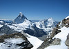 Matterhorn 4478m and Dent d'Herens 4171m.