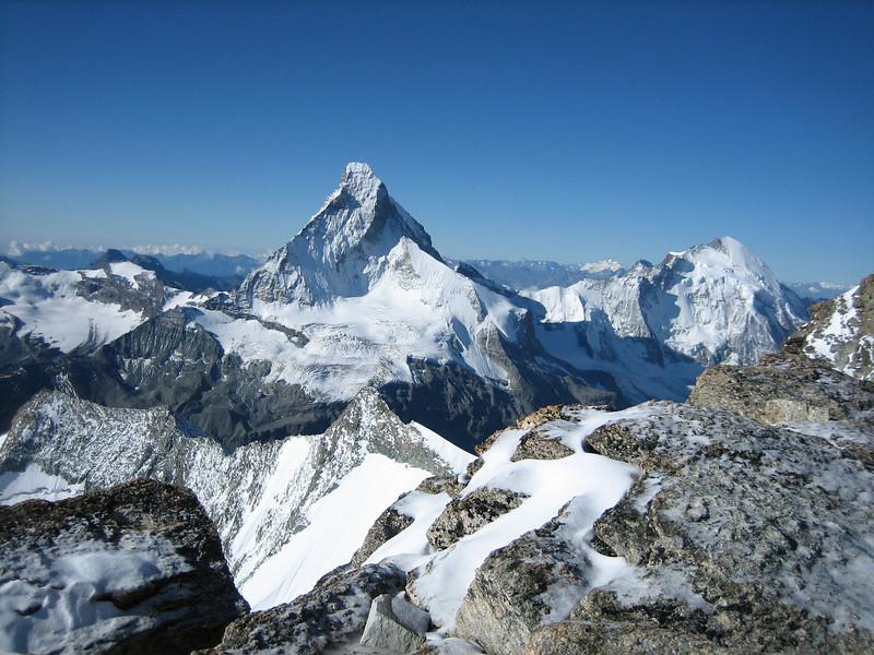 Matterhorn 4478m. and Dent d'Herens 4171m.