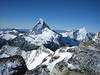 Matterhorn 4478m. and Dent d'Herens 4171m.