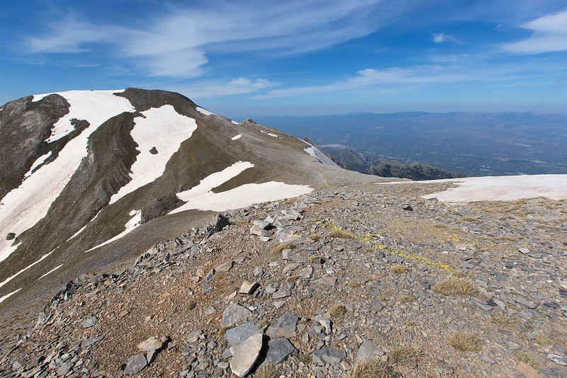 Alpine scenery near Profitis Ilias, Sparti in the background