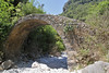 Old stone bridge, Mili Gorge, N of Kambos,  Kalathio mountains, Mani,
