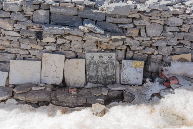 Remnants of the Chapel at Profitis Ilias