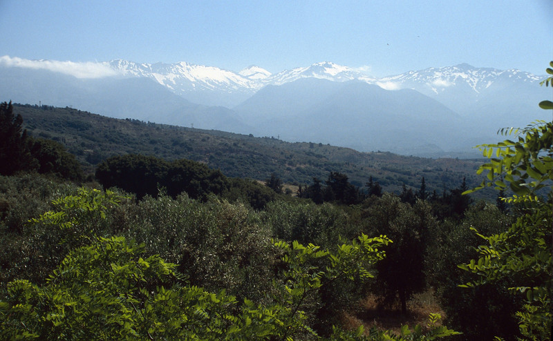 Idha mountains in mainland of Crete